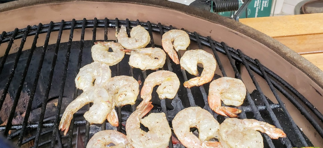 Grilled tandoori shrimp