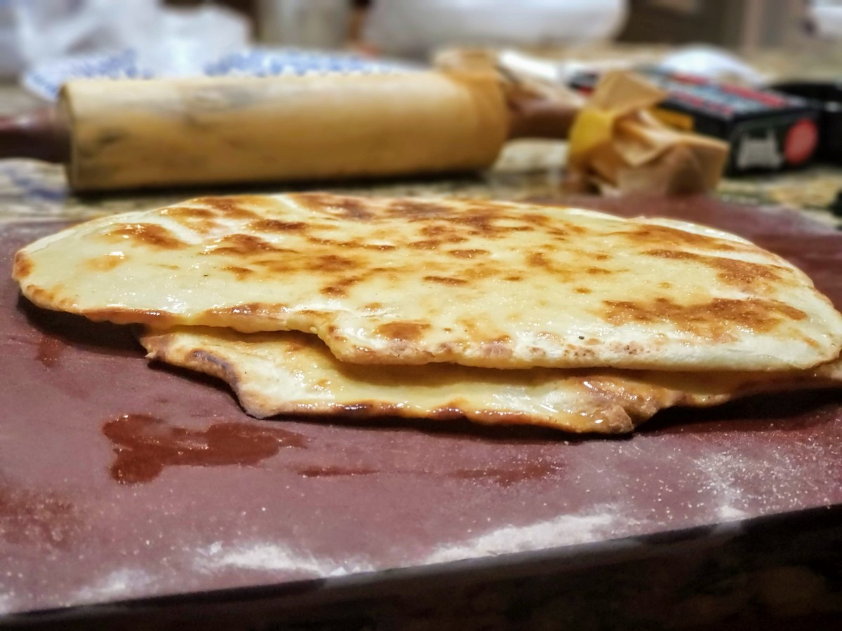 Kamado-cooked Naan from India/Pakistan