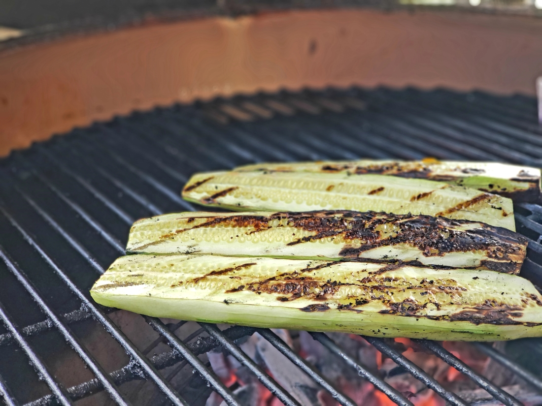 Cucumbers on the grill