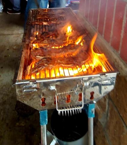 Flanken Ribs cooking