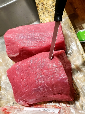 Piercing the meat